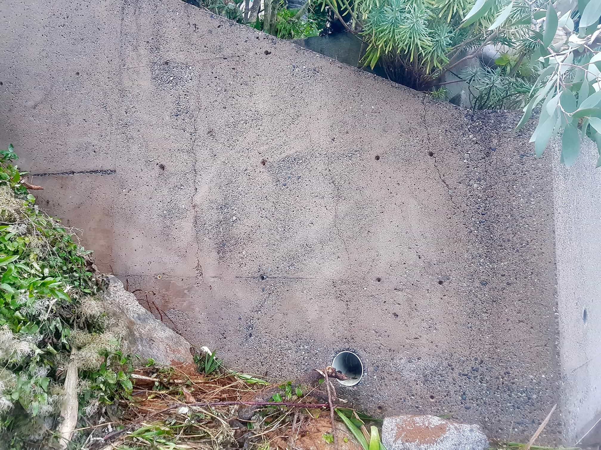 after graffiti removal